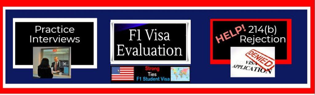 F1 Visa Interview Header mock interview 214b rejection