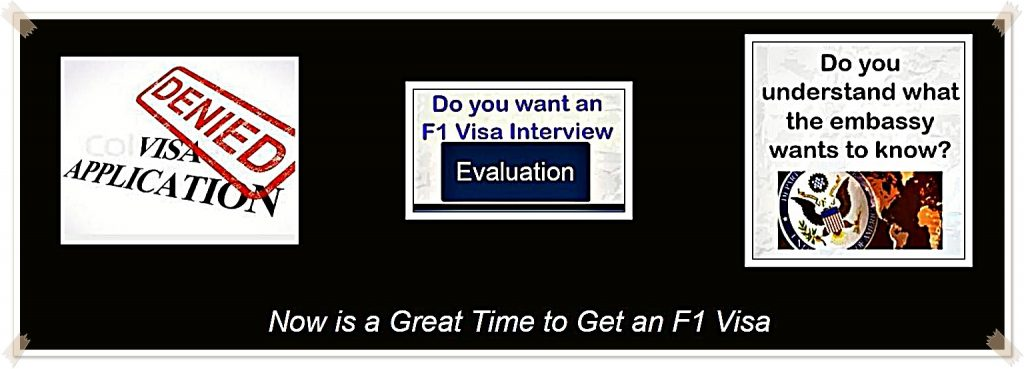 now is a great time to get an f1 visa